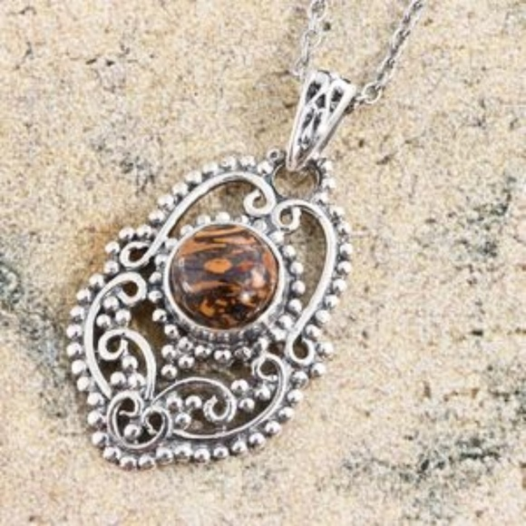 Jewelry - Artisan Crafted Indian Script Stone SterlingSilver